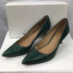 Ann Taylor Eryn Crocodile Kitten Heel Shoes